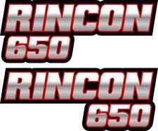 Rincon 650 Red Gas Tank Graphic Decal Sticker 4x4 2x4 Atv Quad Fender