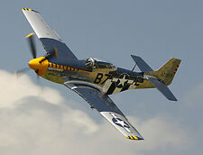 Giant 1/6 Scale North American WW-II P-51B or D Mustang Plans and Templates 81ws
