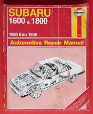 1980-1989 Subaru 1600 & 1800 Automotive Repair Manual (Haynes)