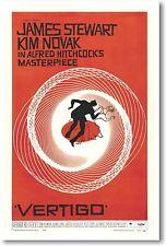Vertigo - Hitchcock - James Stewart & Kim Novak New Vintage Movie Reprint Poster