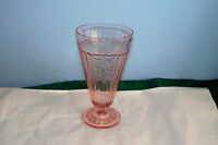MAYFAIR OPEN ROSE PINK DEPRESSION GLASS ICED TEA TUMBLER 15 OZ. 6 1/2""
