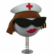 WOBBLER! Cool Brunette Nurse perfect for sticking on your Desk or Dashboard