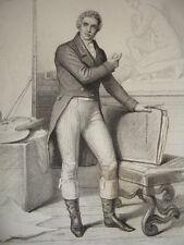 EMPIRE & RÉVOLUTION / GRAVURE 1840 /DAVID