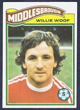 TOPPS 1978 FOOTBALLERS #354-MIDDLESBROUGH-PETERBORO-BRIGHTON-WILLIAM WOOF