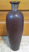 "18"" Tall Brown Contemporary Pottery Floor Vase"