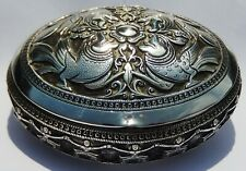 Superb Quality Antique Persian Style Solid Silver Box; Ceylon, Indian c1890