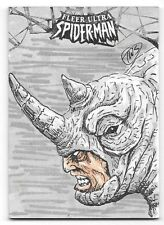 2017 Fleer Ultra Spiderman Rhino Sketch Card Autograph by Tim Smith #1/1  1 OF 1
