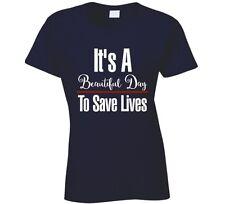 Grey's Anatomy Its a beautiful day to save lives Derek Shepherd Ladies T-Shirt