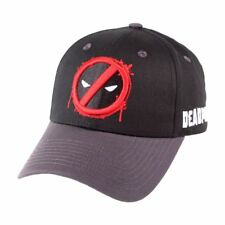 OFFICIAL MARVEL COMICS - DEADPOOL SYMBOL SCREWED SNAPBACK BASEBALL CAP (NEW)