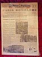 Journal du 22 avril 1944-Le Petit Parisien-Paris bombardé-original encadré