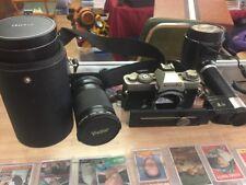 Minolta XD-5 35mm Camera W/ 60mm & 200mm Lenses And Honeywell Strobonar Flash