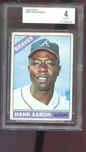 1966 Topps 500 Hank Aaron Atlanta Braves BGS BVG 4 Graded Baseball Card Like PSA