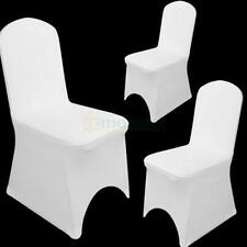 Universal 100 pcs Polyester Spandex Wedding Chair Covers Arched Front White