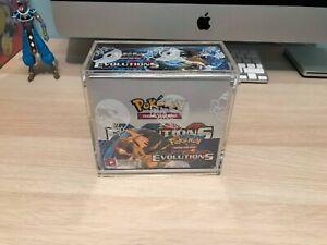 Pokemon Booster Box Protective Display Case/Pokemon Trading Cards/Evolutions