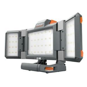 New Ridgid R8694221B - 18-Volt Hybrid Folding Panel Light Up To 2500 Lumens