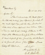 William M. Meredith - Autograph Letter Signed 10/11/1837