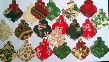 Christmas Baubles fabric scraps Pack remnant patchwork bundle 100% cotton - Set1