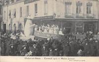 CPA 71 CHALON SUR SAONE CARNAVAL 1912 MAITRE JEANNOT