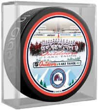 Colorado Avalanche Lake Tahoe NHL Outdoors Team Photo Puck (in Display Cube)