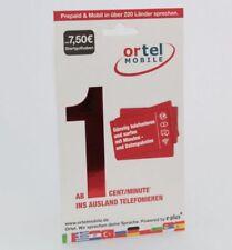 Ortel Mobile Prepaid E-Plus SIM-Karte mit 7,50 EUR Startguthaben vom Händler