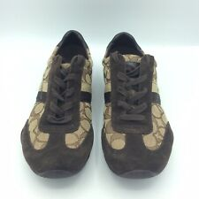 COACH Women's Size 9 M Katelyn Signature Beige Brown Fashion Sneakers