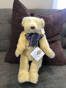 "15""  Canterbury Yellow Mohair Teddy bear for GUND 1993 Maude & Jack Blackburn"