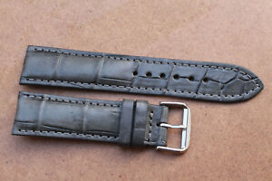 19mm/16mm Genuine Crocodile Alligator Skin Leather Watch Strap Band With Buckle