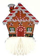 9 inch Christmas Honeycomb Party Table Decoration Gingerbread Candy House