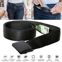 Hidden Cash Travel Security Money Belt Zip Pocket Waist Wallet Anti-Theft Bag