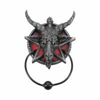 BAPHOMET Door Knocker 20.5cm Nemesis Now Pagan Goat Wiccan Wicca Occult FREE P+P