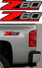 2 - Z60 Chevy Decal Sticker Parts for Silverado or GMC Sierra Truck 4x4