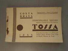 ESPAGNE TOSSA INDISPENSABLE RECORD CARNET DE 12 CARTES POSTALES ANCIENNES (CARNE