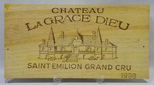 CHATEAU LA GRACE DE DIEU ST EMILION 1996 Façade caisse bois
