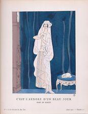 """Eduardo Benito, Gazette du Bon Ton """"C'est L'Aurore D'un Beau Jour"""" 1921"""
