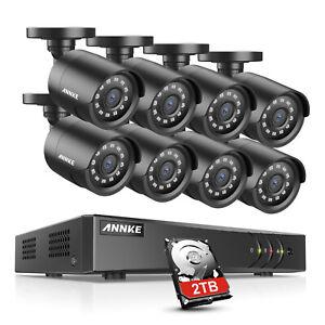 ANNKE 8CH 5MP 5IN1 CCTV DVR Home Security System 3000TVL 1080P IR Cut Camera 2MP