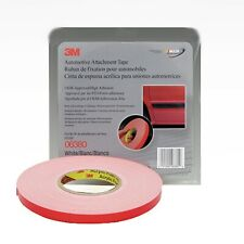 3M 06380 Automotive 45 mil White Acrylic Foam Attachment Tape (1/2 in. X 20 yd.)