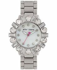 Betsey Johnson Women's Silver-Tone Bling  Bracelet Watch 38mm BJ00612-01