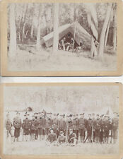 1895 1ST BATTALION DHSC OFFICES IN UNIFORM W/ NAMES ON BACK - SET OF TWO