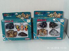 GODZILLA RARE 2 Sets of Figures Part 1 AND 2 Vintage 1993 Yutaka NRFB Japan LOOK
