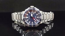 Citizen AW1421-52L Endeavor Eco-Drive Blue Dial St. Steel Men's Watch GREAT GIFT
