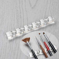 Nail Art Brush Pen Holder Stand Shelf Display Acrylic Carrier Rack Rest Tip Tool