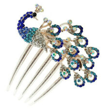 Fashion Lovely Vintage Jewelry Crystal Peacock Hair Clip hair comb Beauty Tools