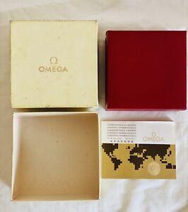 VINTAGE OMEGA SPEEDMASTER SEAMASTER ORIGINAL RED BOX & PAPER