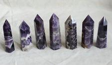 7 Natural Purple Phantom Chevron Amethyst Quartz Crystal Tower Points Urugua .