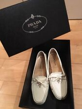 Prada Loafers In White Size 36.5