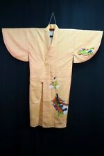 FAB Vintage Japanese Golden Peach 'Heian Royalty' Kimono/Robe/Gown Washable M/L