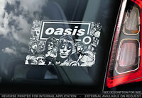 Oasis - Car Window Sticker - Band Noel Liam Gallagher Brothers Decal Sign - V01