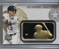 2019 Topps Series 2 Baseball MLB Gold Logo Patch Alex Bregman 150th 071/150