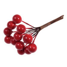 Berries 9mm Red on Wire Artificial x 144