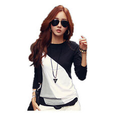 New Fashion Women Long Sleeve Casual Tops T-Shirt Loose Blouse Cotton Blouse